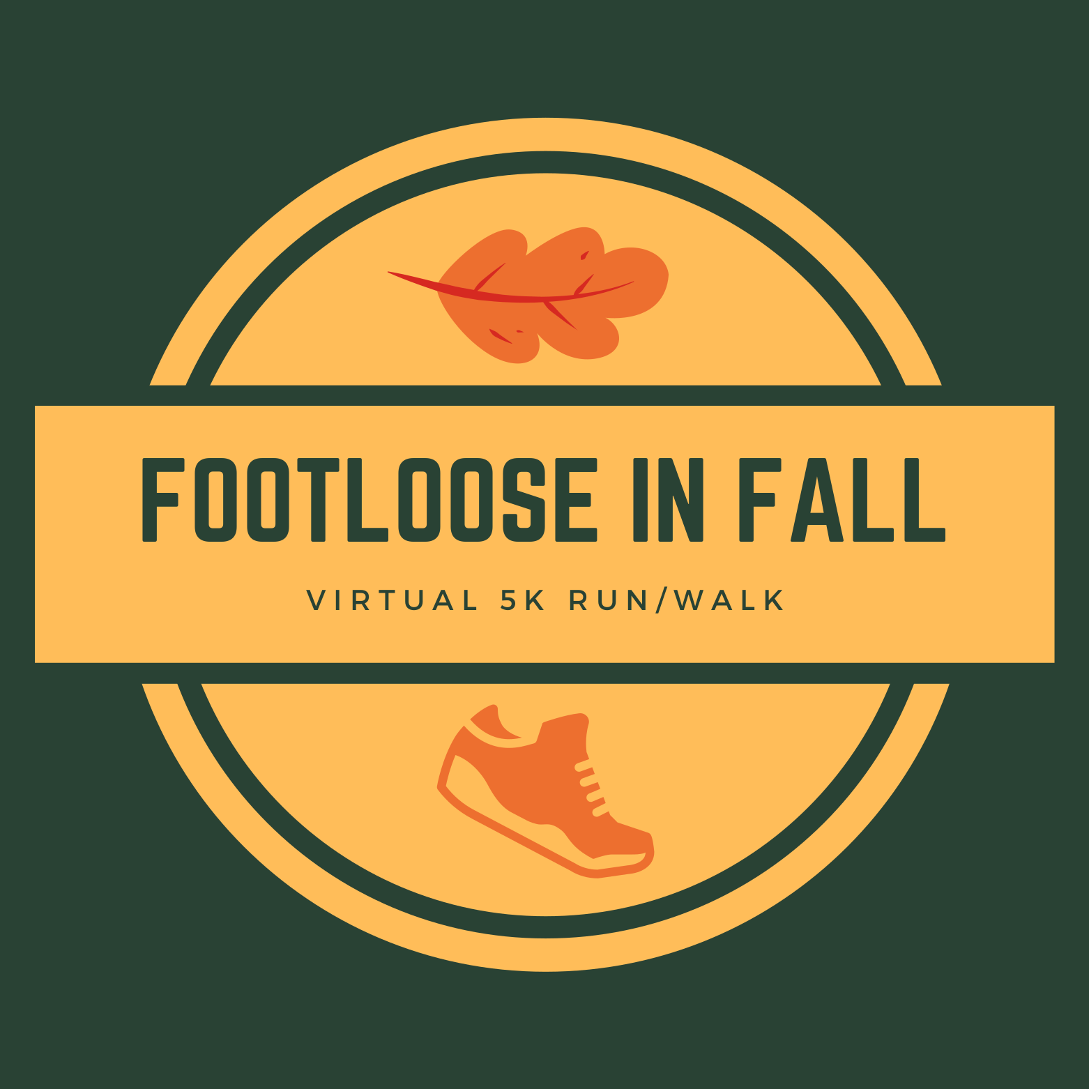 This is a picture of the Footloose in Fall 5K logo.